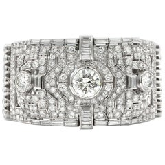 1930s Magnificent 60 Carat Platinum Diamond Bracelet