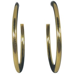 Tiffany & Co. 18 Karat Yellow Gold Classic Hoop Earrings