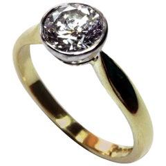 Brilliant Cut Diamond Engagement Ring 1.08 Carat F VS1