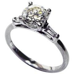 1.22 Carat Brilliant Cut Diamond Platinum Engagement Ring