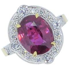 Ruby Cluster Rings
