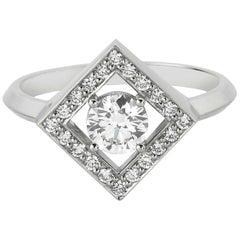 Zoe & Morgan Amavi 18 Karat White Gold Diamond Engagement Ring