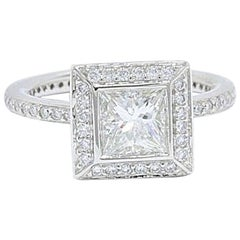 Ritani Endless Love Princess Diamond Ring 1.70 Carat H VS1 in Platinum