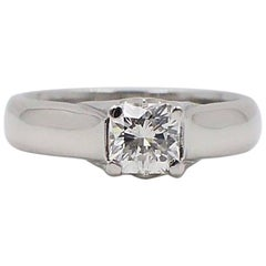 Elara Radiant Diamond Engagement Solitaire Ring 0.71 Carat I VVS1 in Platinum