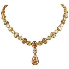 Cartier Colored Diamond Necklace