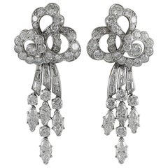 Van Cleef & Arpels Art Deco Diamond Ear Clips