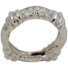 Henry Dunay Platinum .30 Carat Pave Diamond Ring