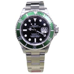 Rolex Submariner 16610 Anniversary Green and Black Kermit with Box and Papers