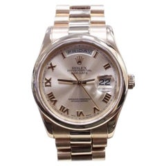 Rolex President Day Date 118205 Pink Roman Dial 18 Karat Gold Mint Condition