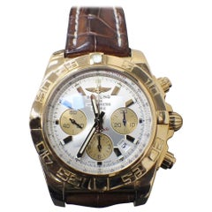 Breitling Chronomat 44 HB0110 18 Karat Rose Gold Leather Strap