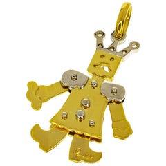 Pomellato King Medium Pendant 18 Karat Yellow Gold White Gold