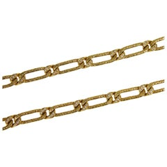 Georges L'enfant for Fred Convertible Gold and Diamond Braided Link Chain
