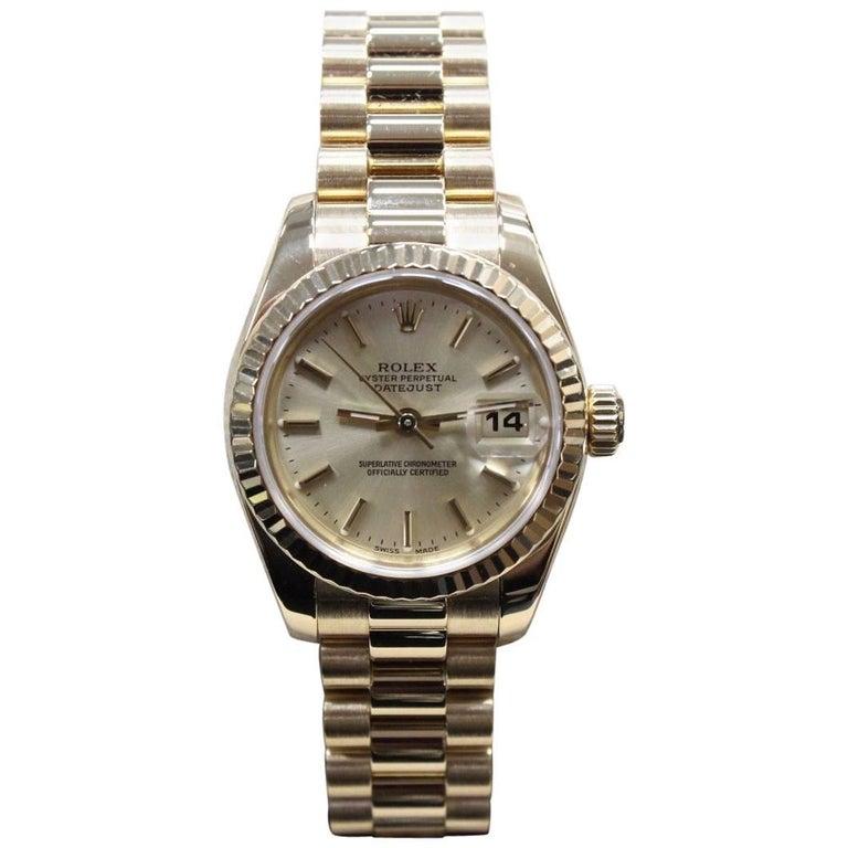 Rolex Ladies President Datejust 179178 New Style 18 Karat Yellow Gold