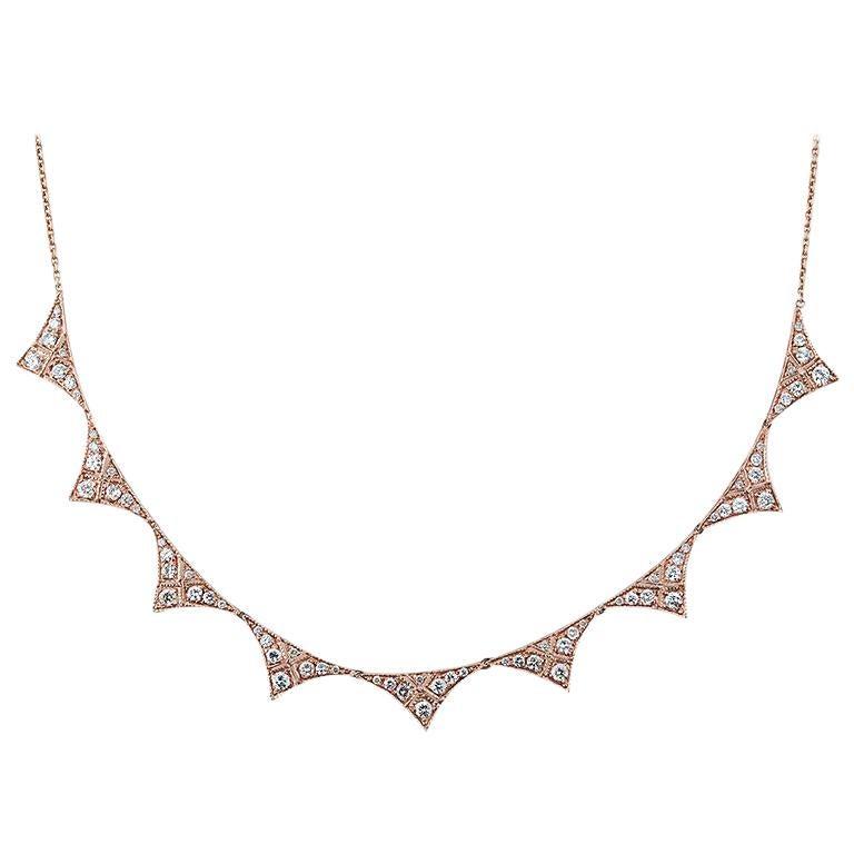 Diamond Triangle Collar Necklace