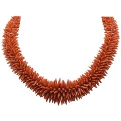 Spiky Coral Necklace