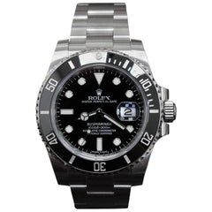 2017 Rolex Submariner Black Ceramic Bezel 116610 Stainless Steel Box and Papers