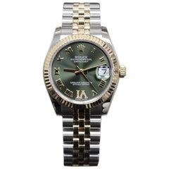2015 Rolex Datejust Midsize 178273 18 Karat Gold and Steel Diamond VI