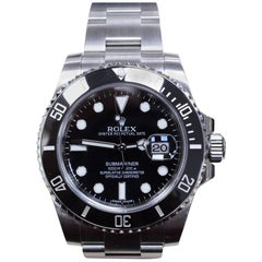 2015 Rolex Submariner Ceramic 116610 Black Stainless Steel with Box and Papers