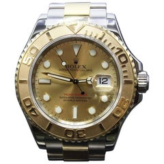 Rolex Yacht Master 16623 Champagne Dial 18 Karat Yellow Gold and Stainless Steel