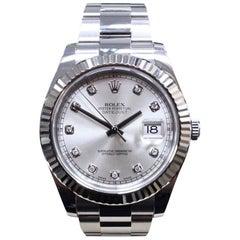 Rolex Datejust II 116334 Diamond Dial 18 Karat Gold Stainless Steel