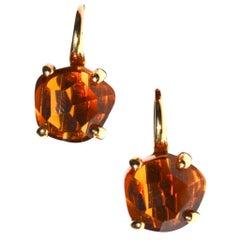 18 Karat Pomellato Citrine Earrings
