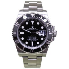 Rolex Submariner Ceramic 116610 Stainless Steel with Box and Papers Open Card