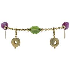 Dolce and Gabbana Tourmaline and Peridot Bracelet
