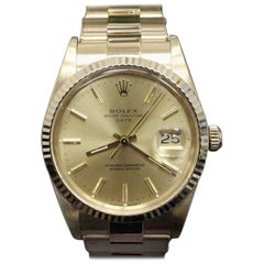 Rolex 15007 Date Watch 18 Karat Yellow Gold and 14 Karat Yellow Gold Watch
