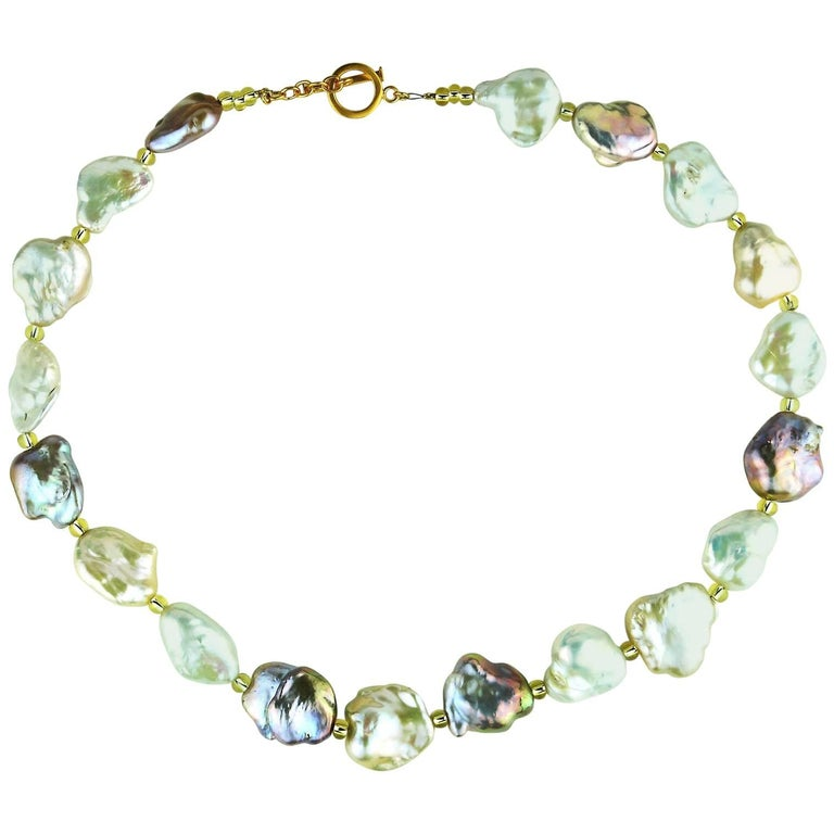 Baroque Multi-Toned Pearl Necklace