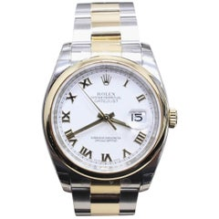 Brand New Rolex 116203 Datejust White Roman Dial with Box and Papers
