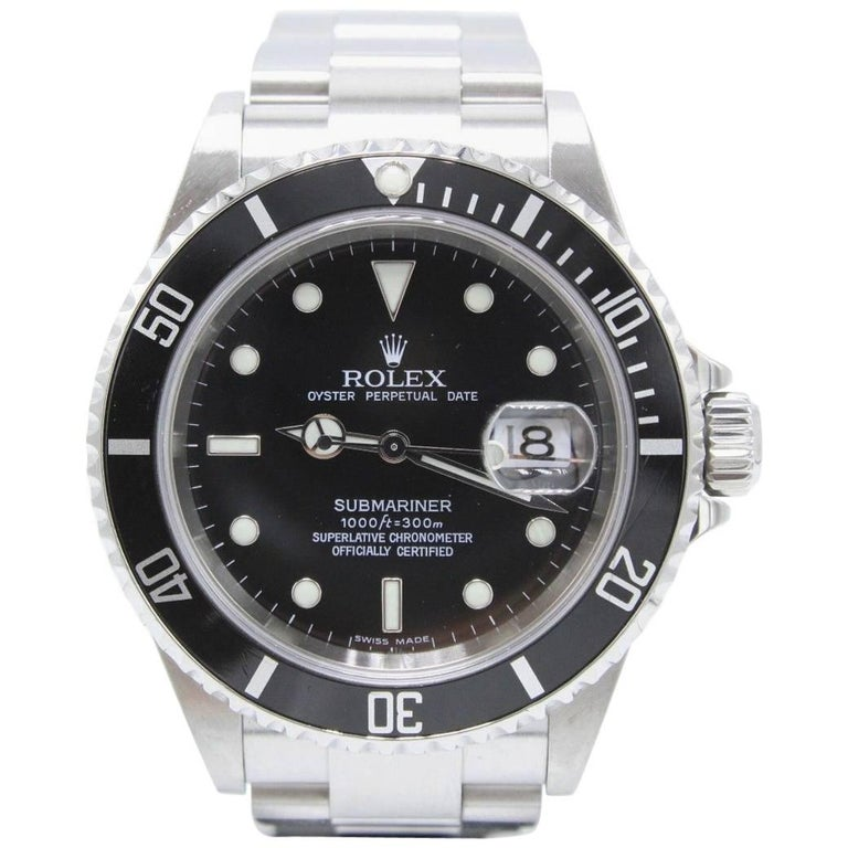 Rolex Submariner 16610 Stainless Steel with Box and Papers, 2006