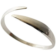 David Andersen Sterling Silver Norwegian Modernist Arm Bracelet