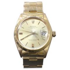 Vintage Rolex Date 1501 18 Karat Yellow Gold 1965 Original Polish Collectible