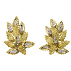 Vintage Diamond Gold Earrings