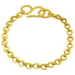 Loren Nicole Classic Gold Woven Roman Chain Bracelet