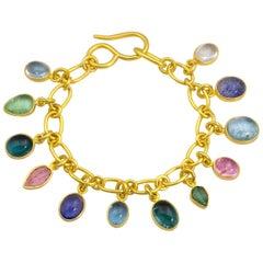 Loren Nicole Classic Gold Cable Chain Charm Bracelet