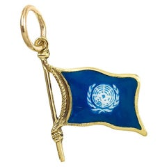 Gold and Enamel United Nations Charm