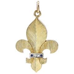 Antique Fleur-de-Lys Gold Locket