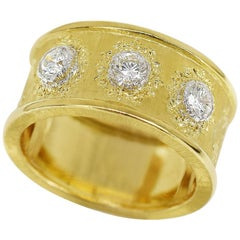 Gianmaria Buccellati Diamond 0.39 Carat 18 Karat Yellow White Gold Ring