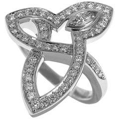 Harry Winston Lily Cluster Diamond 0.44 Carat Ring in Platinum