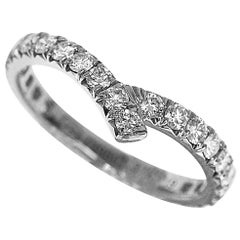 Harry Winston 0.62 Carat Diamond Platinum Ribbon Wedding Band Ring  US 5