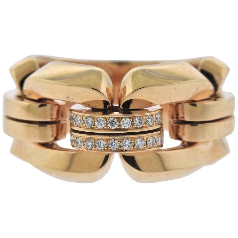 Chimento Diamond Rose Gold Ring