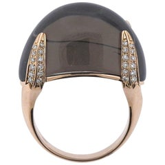 Chimento Diamond Smokey Quartz Rose Gold Ring