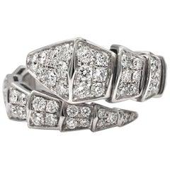 Bvlgari Serpenti One-Coil 18 Karat with Pave Diamonds Ring
