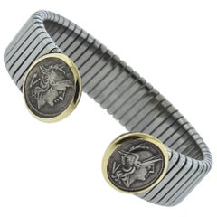 Bvlgari Bulgari Ancient Coin Steel Gold Bracelet