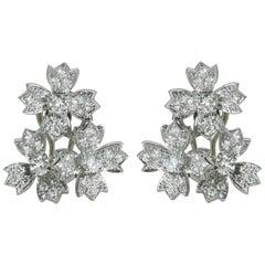 Tiffany & Co. Floral Ear Clips