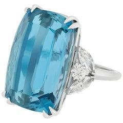 Van Cleef & Arpels Aquamarine and Diamond Ring, 34.11 Carat