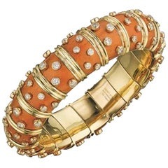 Tiffany & Co. Orange Schlumberger Bangle with Diamonds