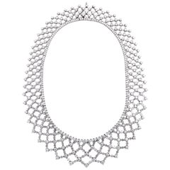 Platinum and Diamond Formal Lattice Diamond Necklace