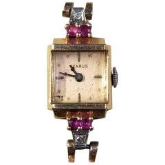 Benrus 14 Karat R/G Retro Wristwatch